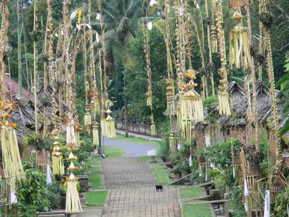 Penjors can be seen all over Bali at Galungan